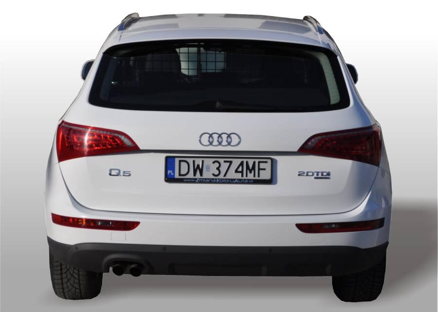 Oklejanie Samochod 243 W Audi Q5 Biały Połysk